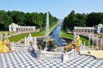 Фонтан Самсон в Большом дворце в Петергофе