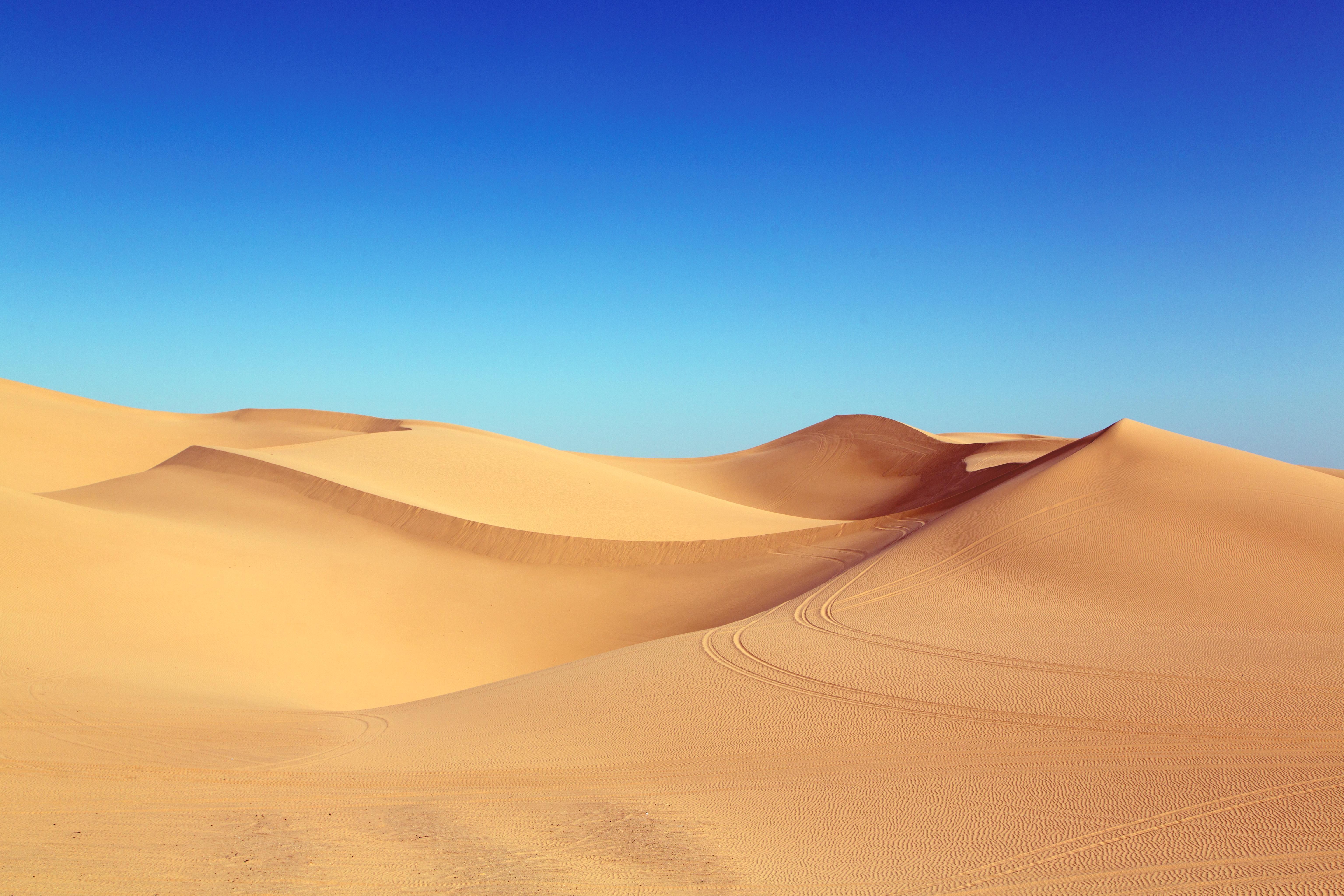 Фото пустыни в Калифорнии США - дюны Альгодон