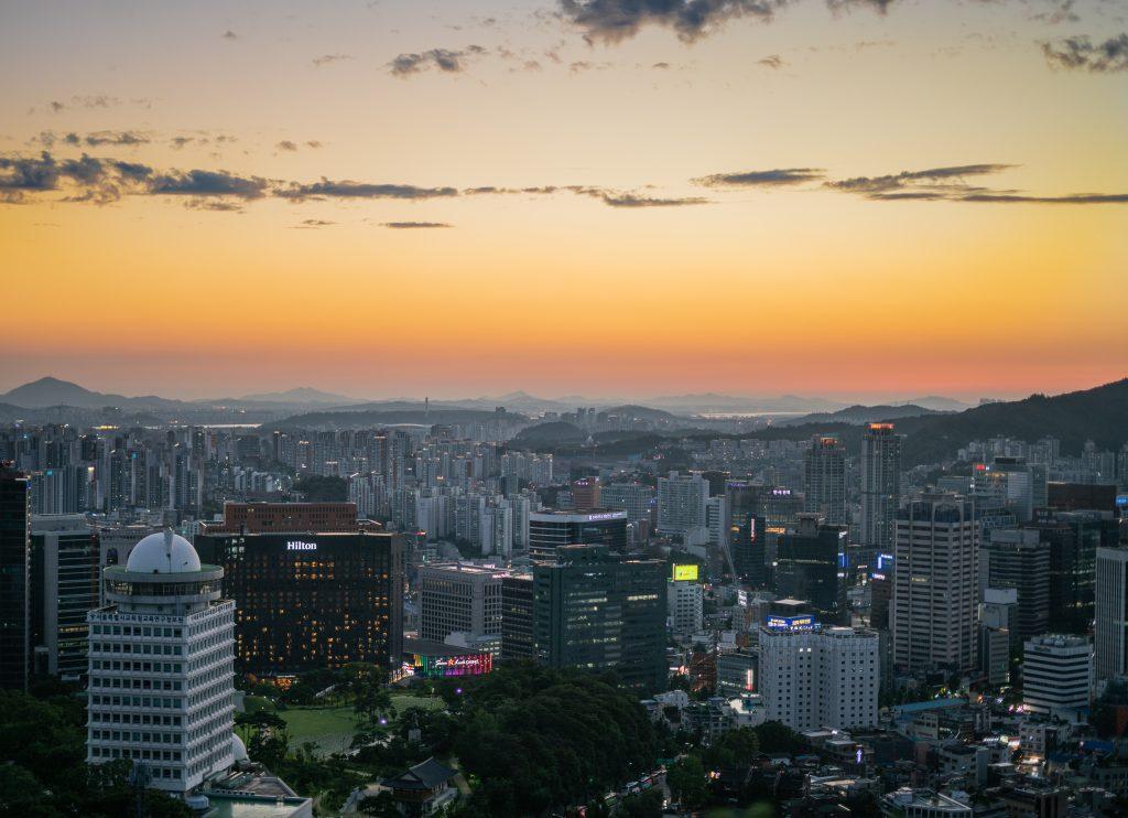 Панорама Сеула фото