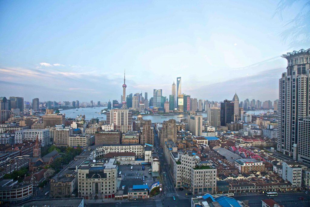Фото центра Шанхая