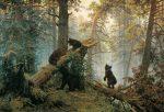 Иван Шишкин - картина Утро в сосновом лесу, медведи в лесу