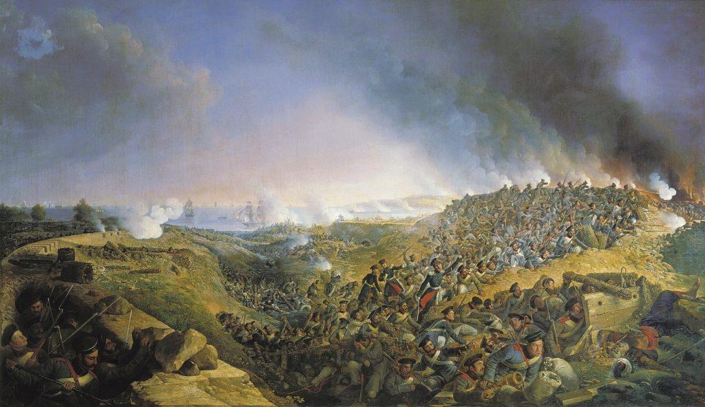 Зауервейд - Штурм крепости Варна в 1828 году, картина маслом