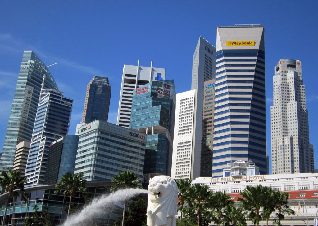 Небоскребы Сингапура и отель Fullerton
