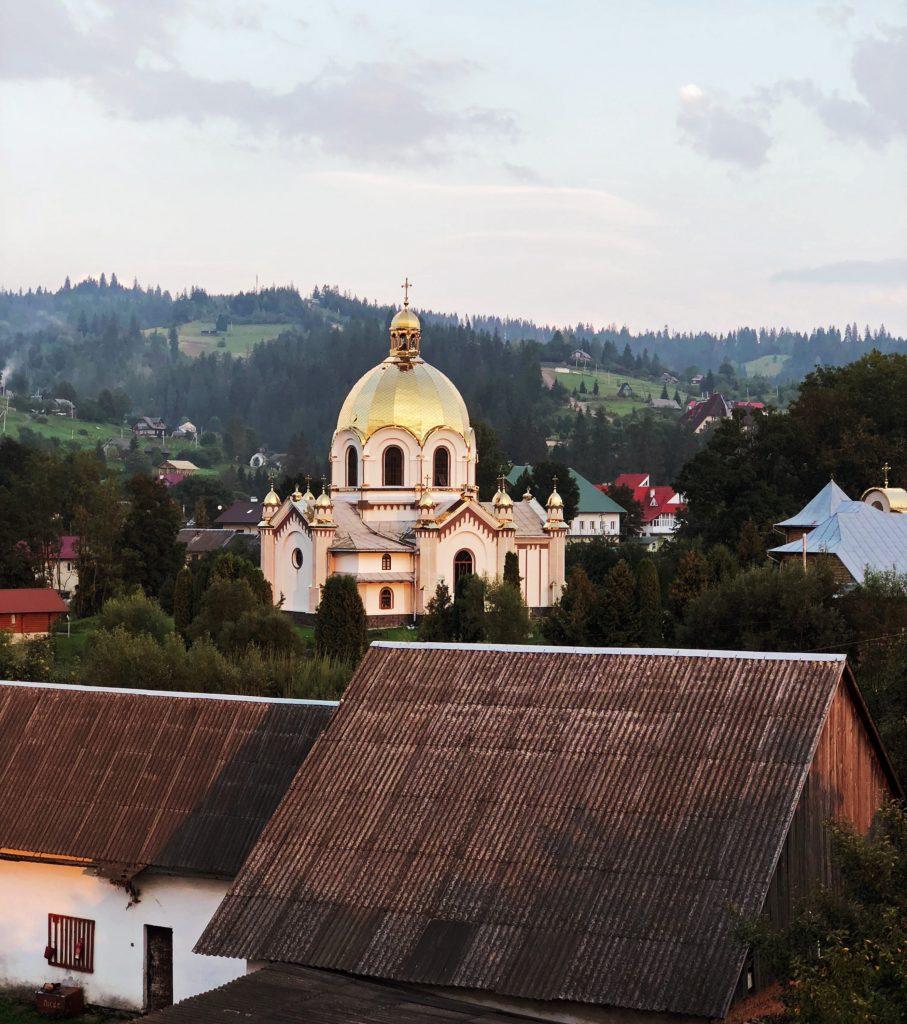 Поселок Славское в Карпатах