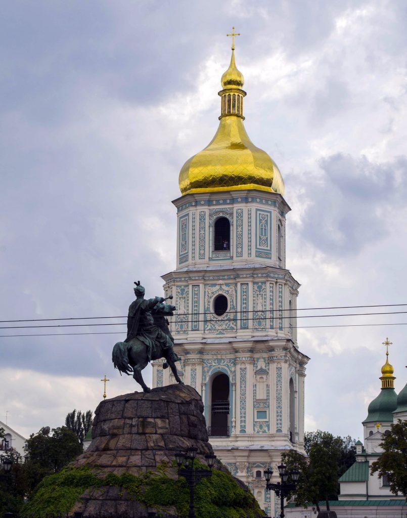 София Киевская и памятник Хмельницкому