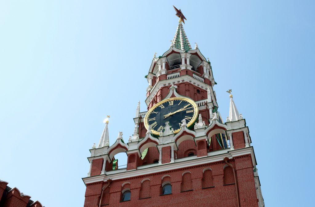 Спасская башня Московского Кремля - часы куранты