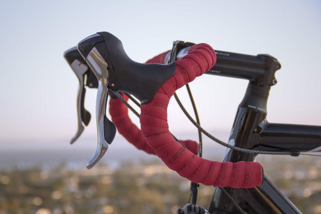 Стоковое фото руль велосипеда