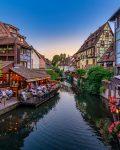 Страсбург - кафе на канале на реки Илль