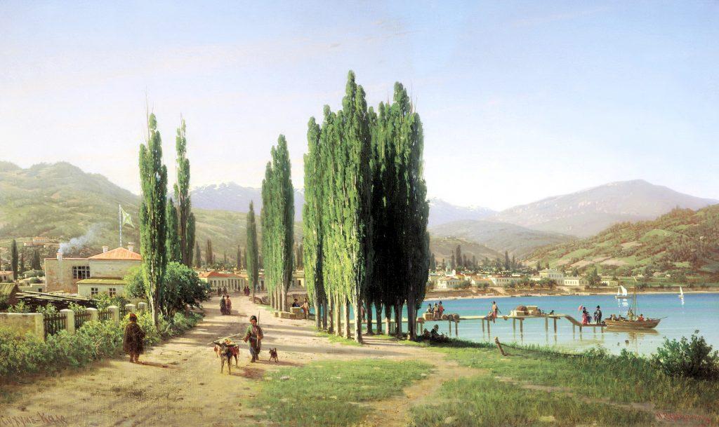 Петр Верещагин - картина 19 века Сухуми Сухум-Кале