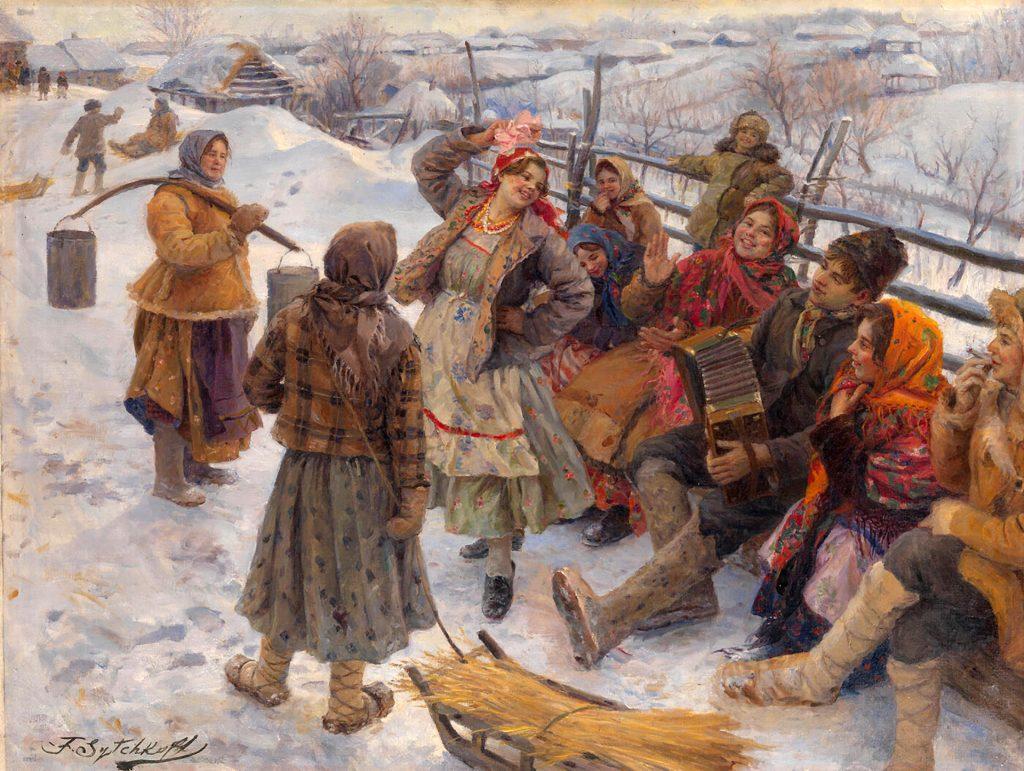 Сычков Федот - картина Праздничный день, праздник, святки, свадьба