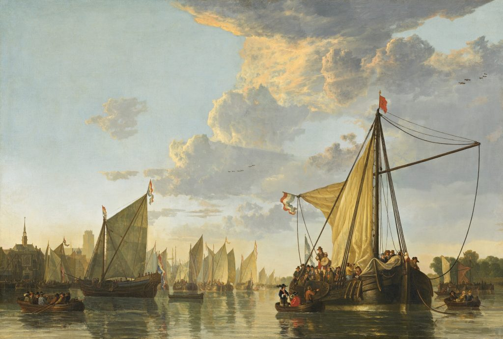 Кёйп. Картина 17 века Река Мааса возле Дордрехта