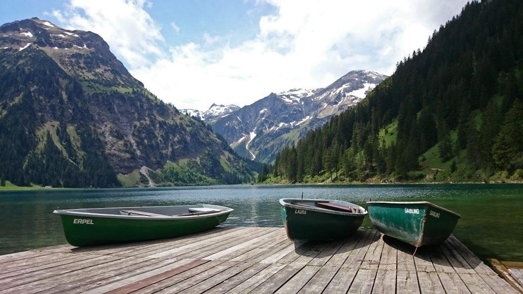 Австрия Тироль горное озеро Vilsalpsee