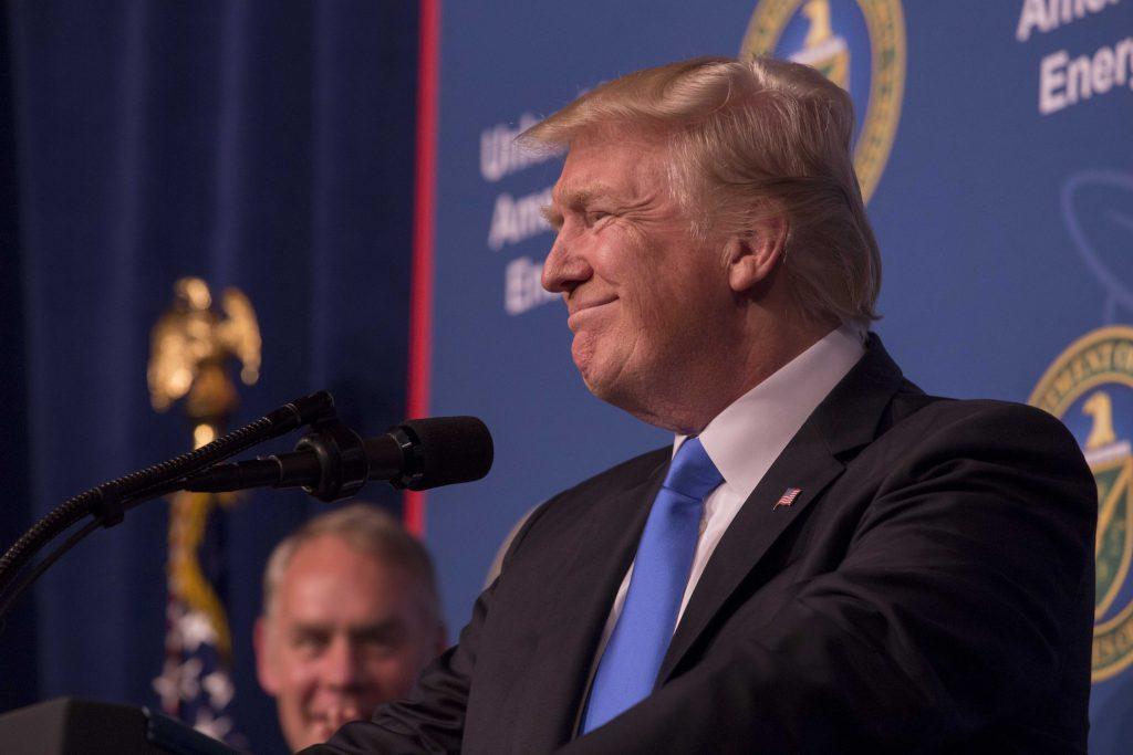 Фото Дональда Трампа, который улыбается