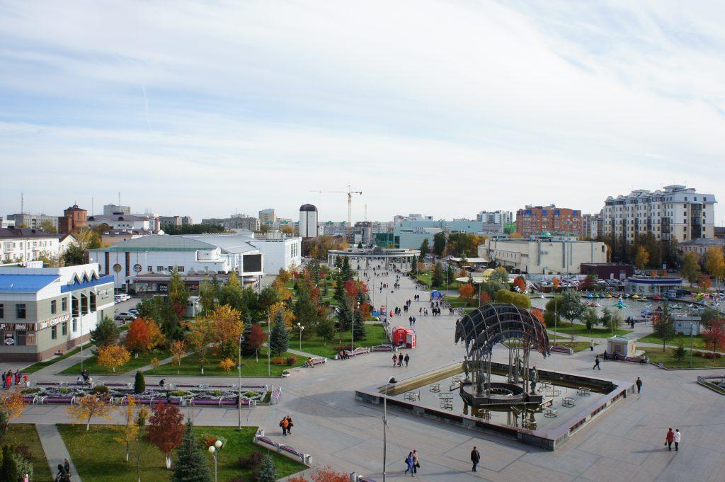 Сибирь центр города Тюмень