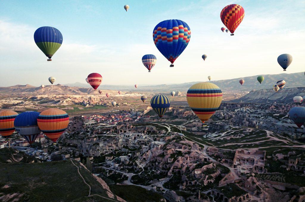 Воздушные шары в небе, Турция, Каппадкоия