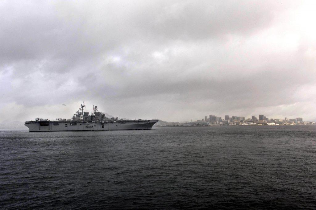 Американский военный корабль прибыл в Рио де Жанейро