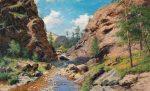 Картина художника Иван Вельц - В Крымских горах. Крым начало 20 века