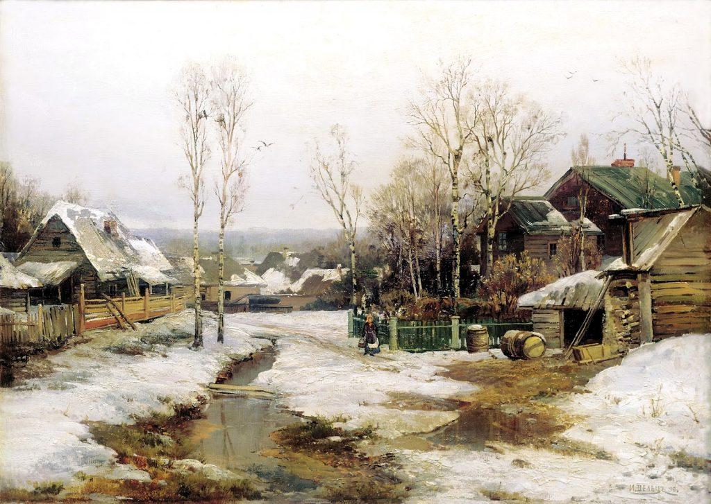 Иван Вельц - Зима в окрестностях Санкт-Петербурга, конец 19 века