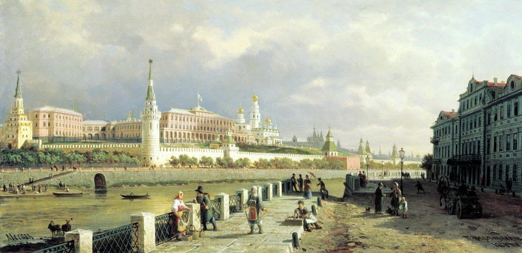 Петр Верещагин - картина Москвы, Москва и Московский Кремль во второй половине 19 века