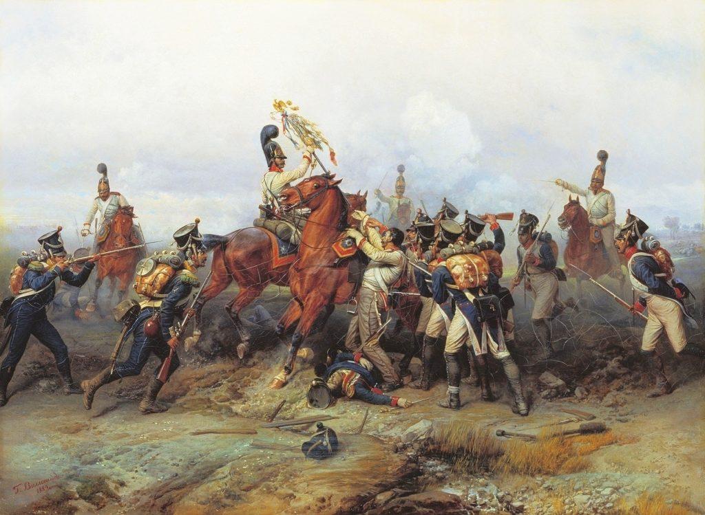 Виллевальде - Битва под Аустерлицем, картина 19 века