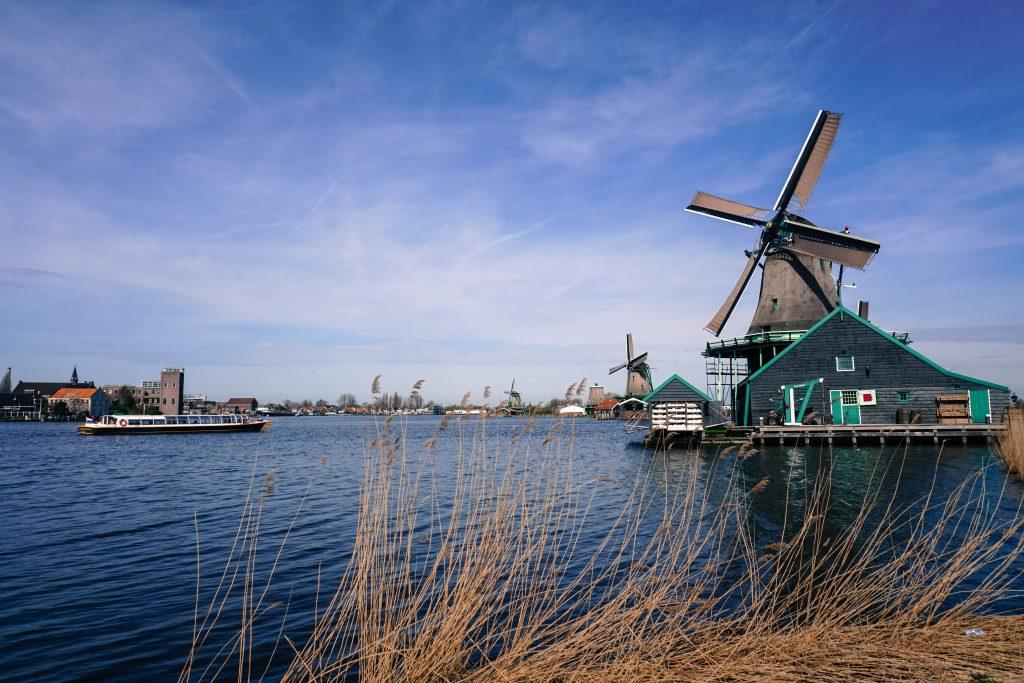 Ветряная мельница, Амстердам, Нидерланды