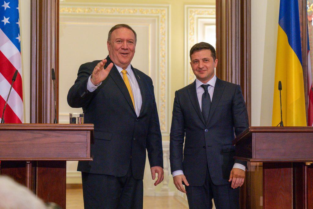 Президент Украины Владимир Зеленский и госсекретарь США Помпео