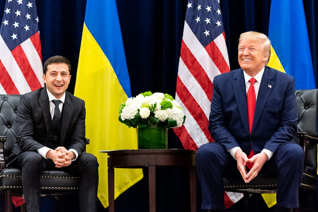 Фото встречи Зеленского и Трампа
